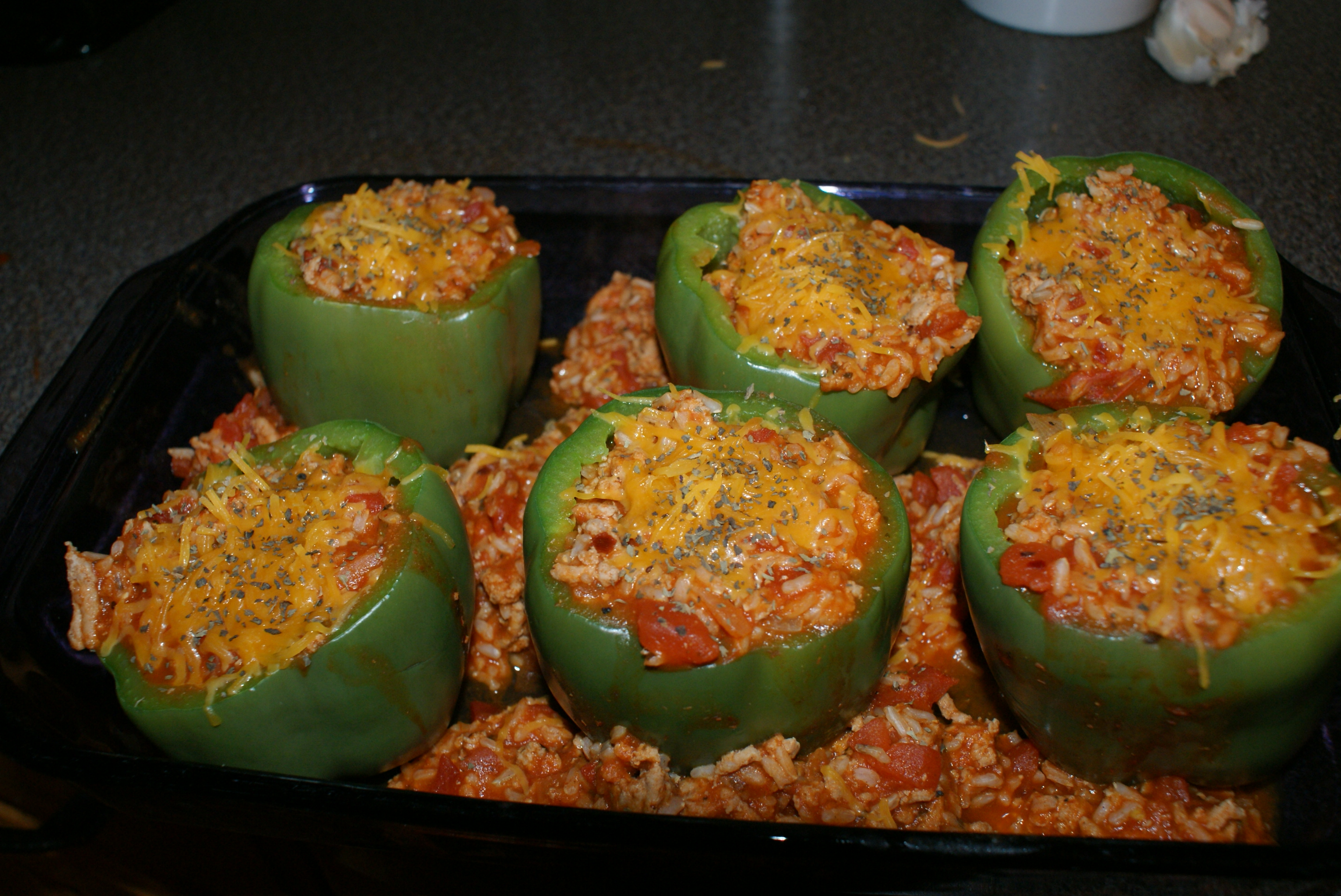 Stuffed Green Peppers | Chaos and Cookies